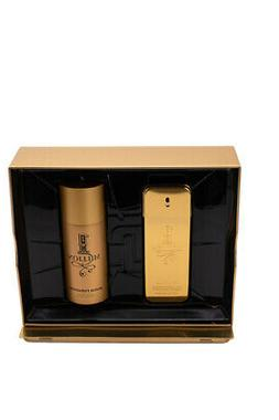 1 One Million by Paco Rabanne 2 pc Gift Set for Men 3.4 oz C