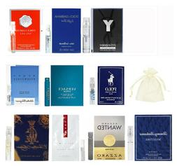 10 Mens Cologne Sample Set Vials Travel Lot Polo Blue Prada