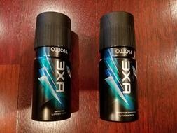 2 Mens Teen Axe Apollo New Deodorant Body Spray Cologne Show