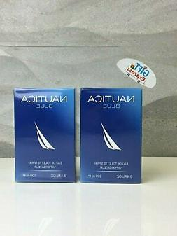 2 PCS NAUTICA BLUE by Nautica 3.4 oz Cologne for Men Brand N
