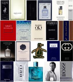 20 Mens Cologne Samples Armani Burberry Cartier Dolce & Gabb