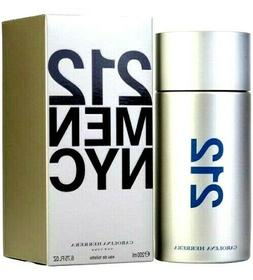 212 By CAROLINA HERRERA Cologne Perfume Men 6.8 3.4 1 oz Edt