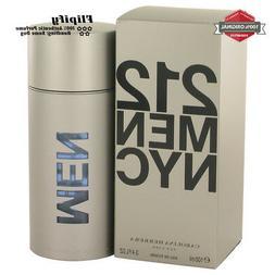 212 Cologne by Carolina Herrera EDT Spray for MEN 3.4 6.8 1.