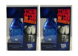 2x BOD Man Really Ripped Abs on Steroids  Mens Cologne Spray
