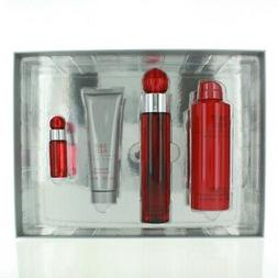 360 Red 4 Piece Gift Set with 3.4 Oz by Perry Ellis NEW For
