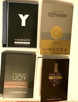 4 men s cologne samples lot y
