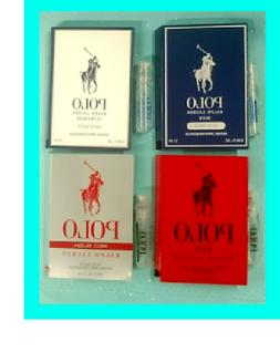 4 Ralph Lauren POLO Ultra BLUE ~ RED Rush Men's Cologne Toil