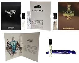 Men's Designer Fragrance Sample Pack: 5 Different Cologne Vi