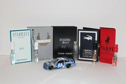 5 Men's Cologne Samples: Polo Red, Armani Code, L'Homme, Cal