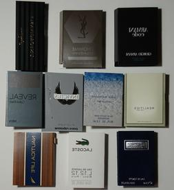 Lot of 10 Mens Cologne Samples Armani Dolce & Gabbana YSL La