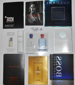 Mens Cologne Samples Paco Rabanne Hugo Varvatos D&G Bvlgari