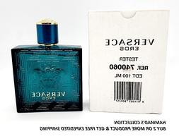 Versace EROS Cologne for Men by Versace EDT  3.4 oz  with Ca