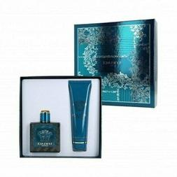 Versace Eros Cologne 3.4 oz EDT Spr.+5 oz.S/Gel New Gift Set