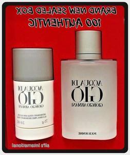 Acqua Di Gio Men Cologne 3.4 oz EDT Spray & Alcohol-free Deo
