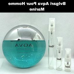 Bvlgari Aqva Pour Homme Marine EDT 2 5 10 ml SAMPLE Fragranc