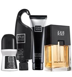 Avon Black Suede 4-Piece Men's Cologne Gift Set