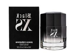 Black XS Cologne  by Paco Rabanne 3.4 oz. EDT Spray for Men.