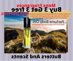 Cologne Body Oils For Men-Pick Your Fragrance-No Alcohol-Unc