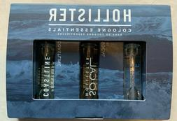 Hollister Cologne Essentials 3 Samples Gift Set New Sealed!