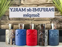 Parfums de Marly Cologne Samples,Layton, Herod, Delina ,Kala
