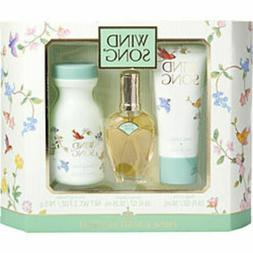 Wind Song Cologne Spray .55 Oz and Body Lotion 1.9 Oz and Du
