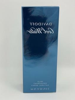 Cool Water By Davidoff Cologne Mild Deodorant Spray 2.5 oz B