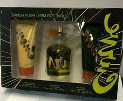 Curve by Liz Claiborne 3 Piece Gift Set for Men Cologne Spra