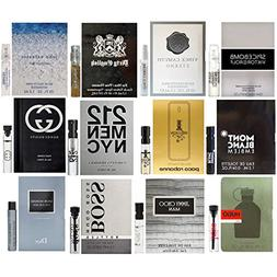 Men's Designer Fragrance sampler - Bestsellers Lot of 12 Via