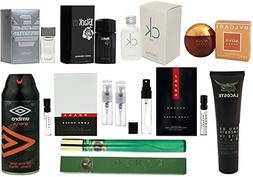 Men's 12-Piece Fragrance Sampler Set: Mix of Cologne Minis,
