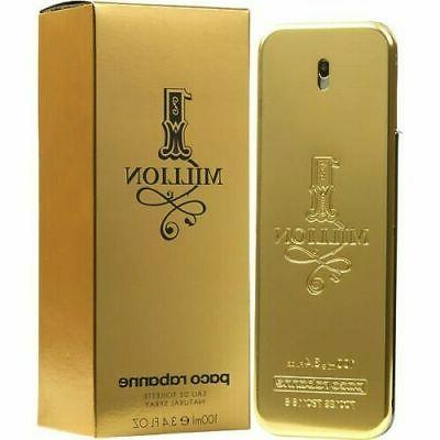 1 Million by Paco Rabanne 3.4 oz EDT Cologne for Men New Tes