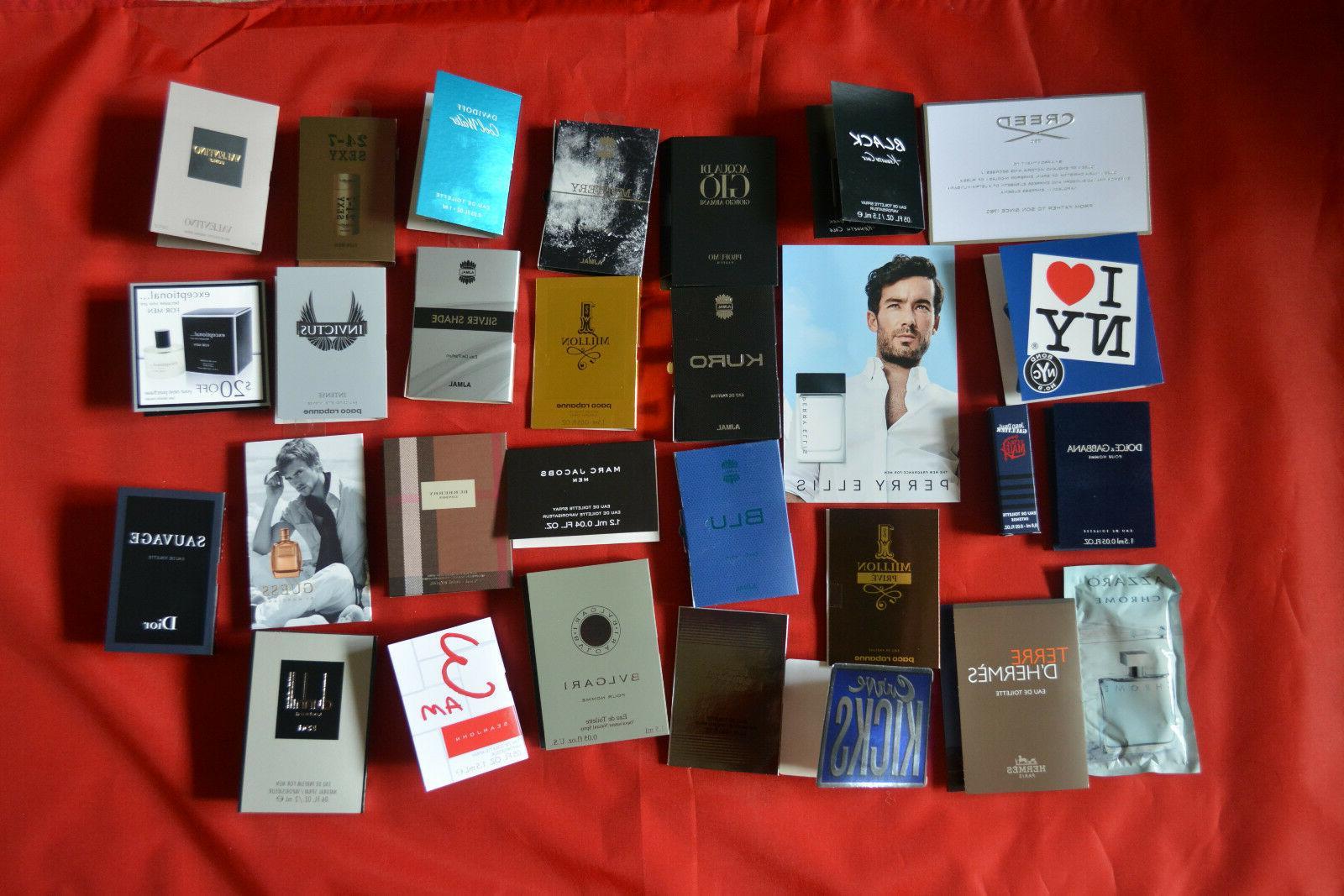 Mens Cologne Samples Lot Assorted / Parfum Toilette / Marc