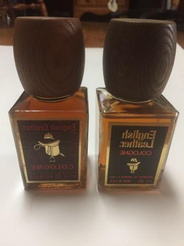 2 Vintage LEATHER Men's Full Bottle Lid
