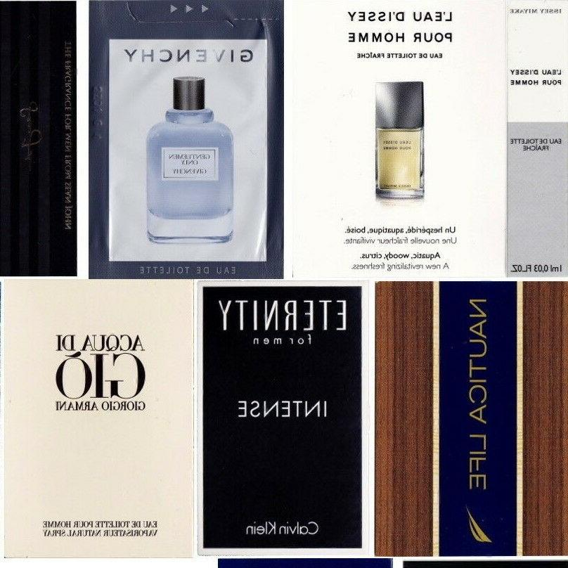 20 Mens Cologne Samples Armani Cartier Dolce & Polo