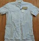 $350 Mens Burberry Brit Striped Dotted Short Sleeve Button U