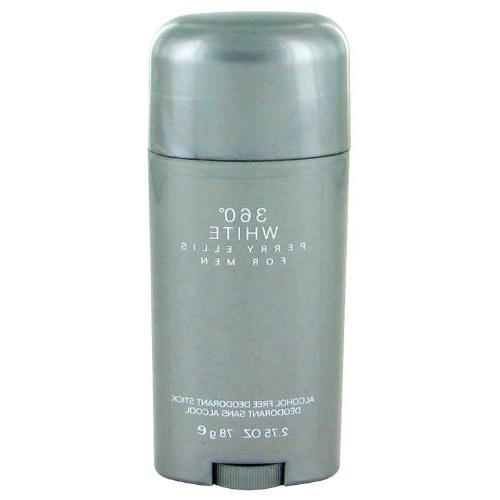 360 White for Men By Perry Ellis Deodorant Stick, 2.75-Ounce