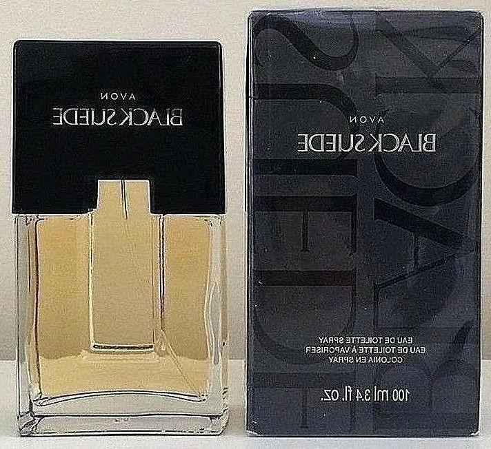 Avon Black Suede Cologne Spray 3.4oz Men's Oriental amber/mo