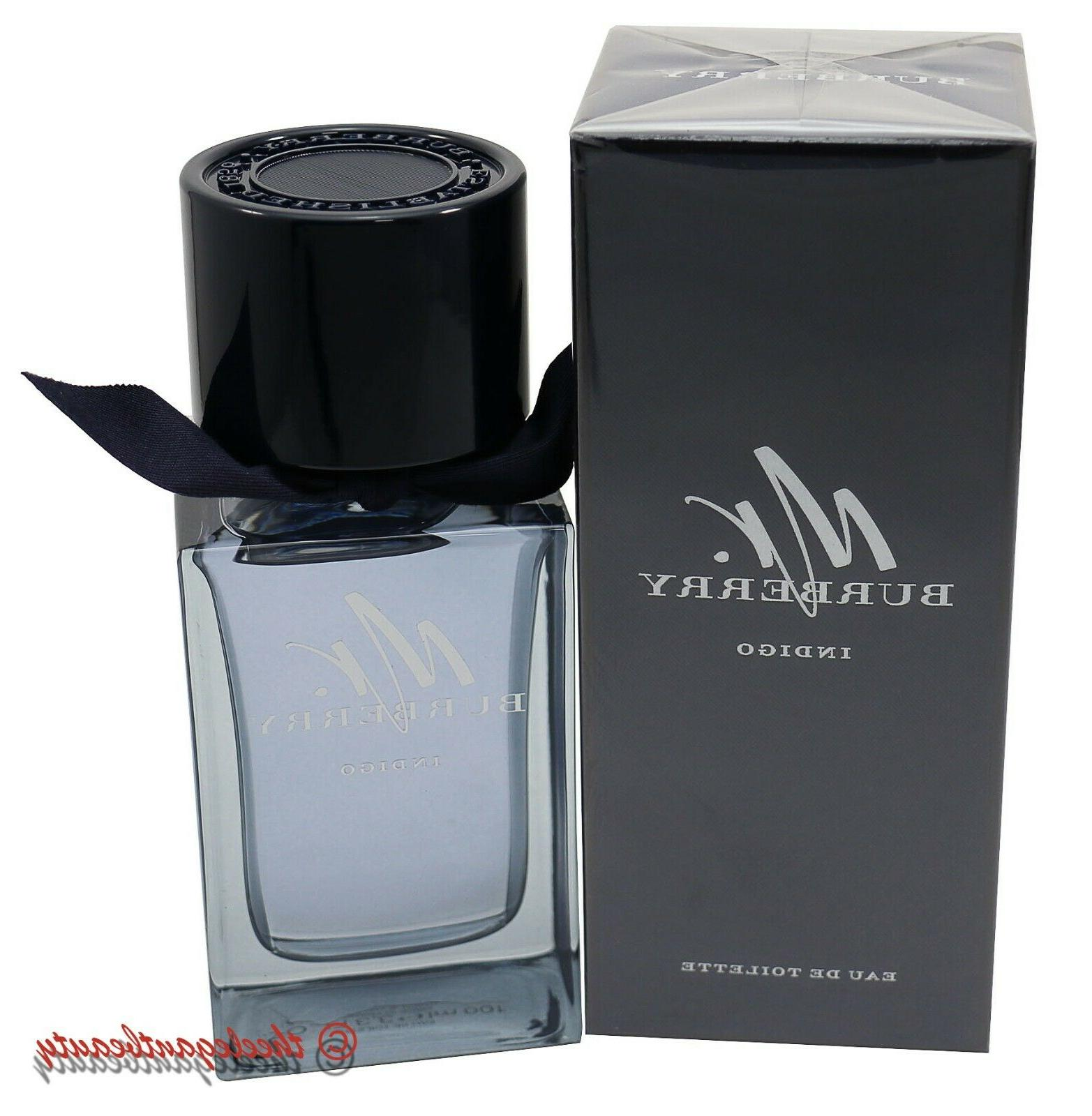 Burberry Indigo EDT Eau De Toilette Spray 100ml/3.3oz Mens C