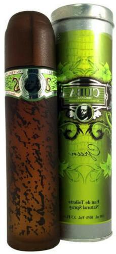 CUBA GREEN Cologne for Men Eau de Toilette Spray 3.4 oz ~ Ne