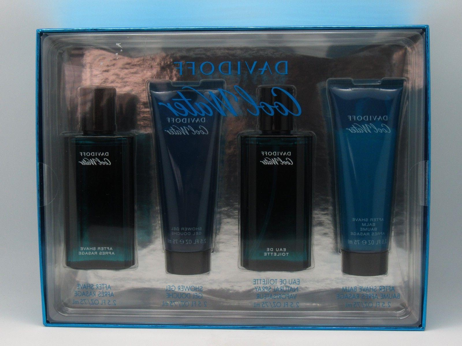 Cool Water Cologne by Davidoff, 4 Piece Gift Set for Men NEW