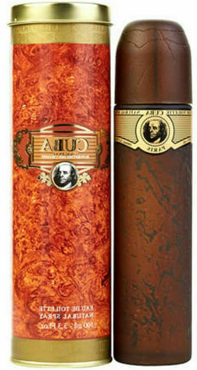 Cuba Gold Men's Cologne By Parfums Des Champs 3.3oz/100ml Ea