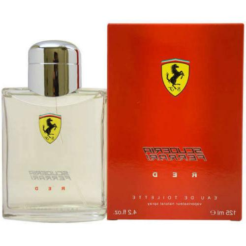 Ferrari Scuderia Red By Ferrari 4.2 oz EDT Spray NIB Sealed