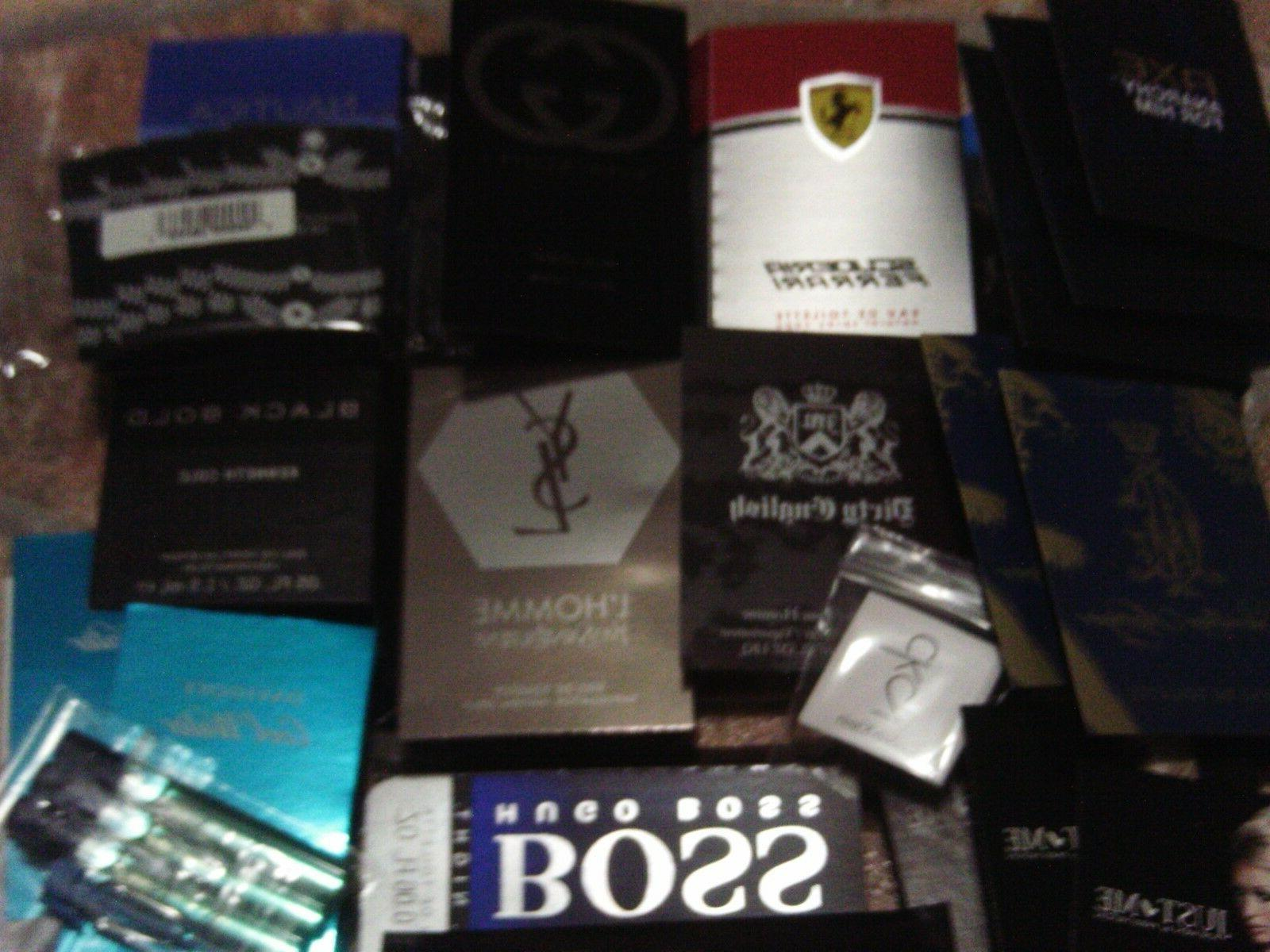 LOT OF 30 MENS COLOGNE SAMPLES - DESIGNER BRAND VERY NICE-po