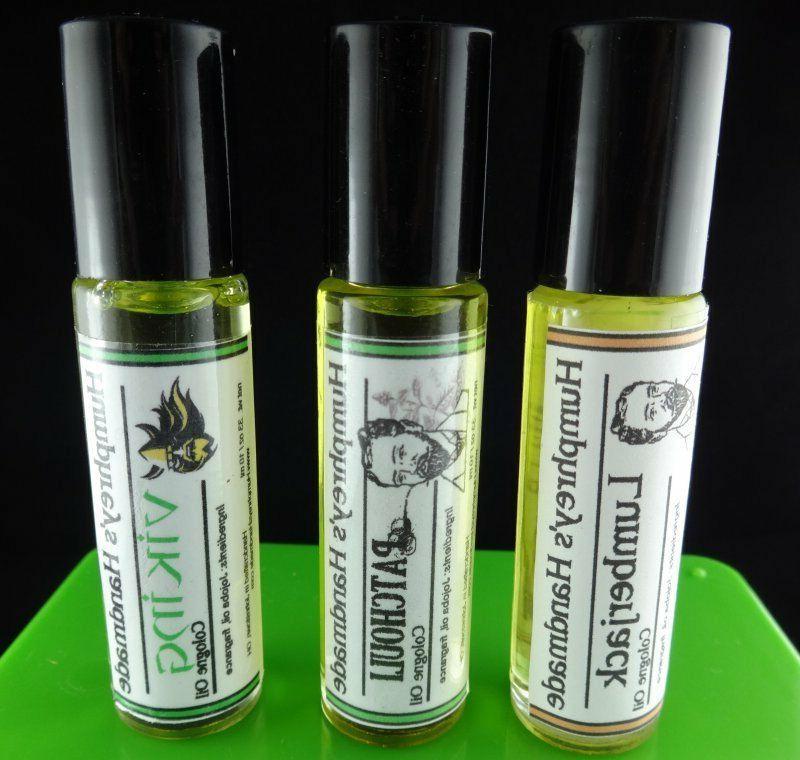 PICK THREE Jojoba Cologne 3 Mens Roll Fragrance,
