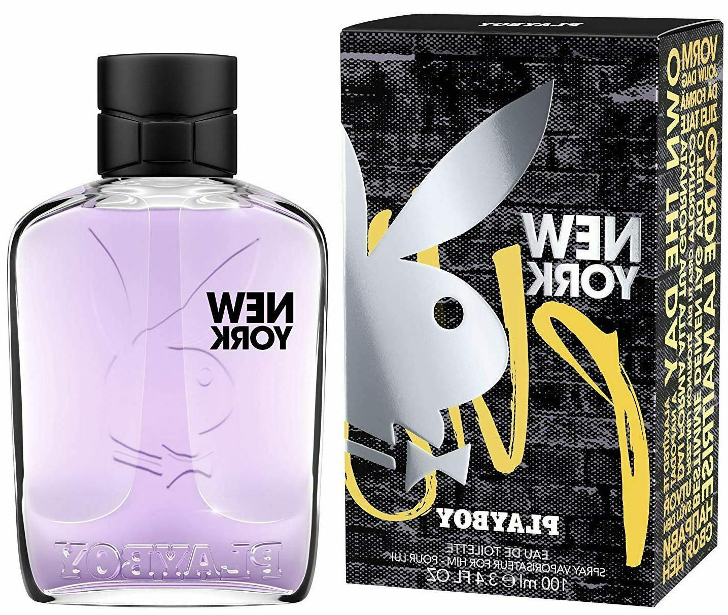 PLAYBOY NEW YORK by PLAYBOY Cologne for Men 3.4 oz edt Spray