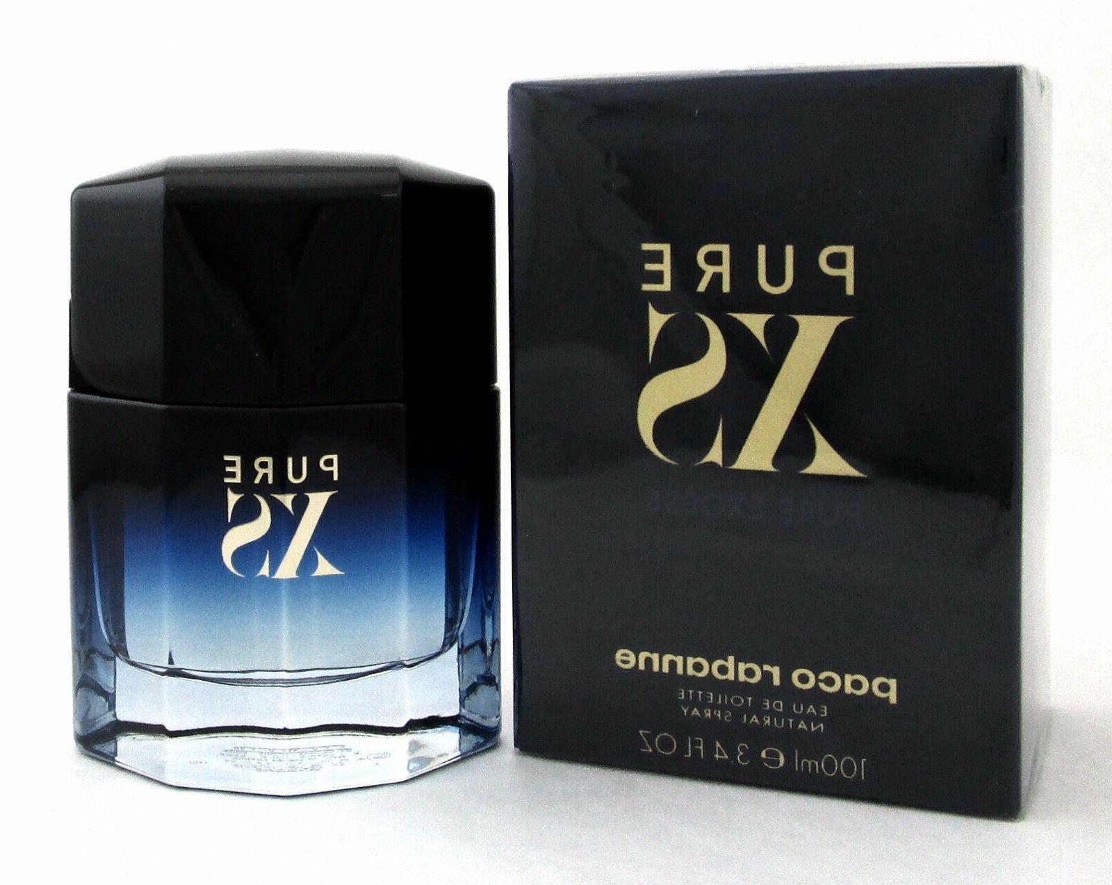 PURE Rabanne 3.4 EDT Spray for Men. Brand New. Sealed Box