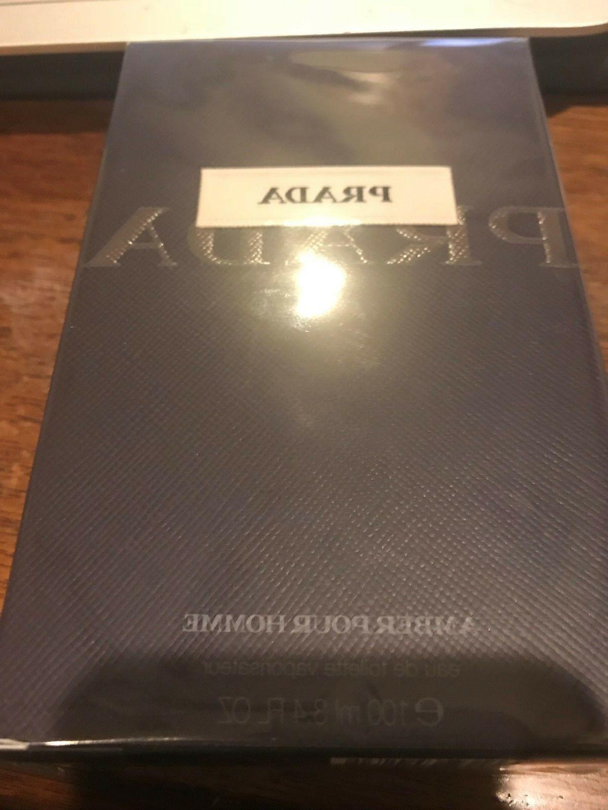 Prada Amber Pour Homme Cologne for Men 3.4 Fl oz Eau De Toil