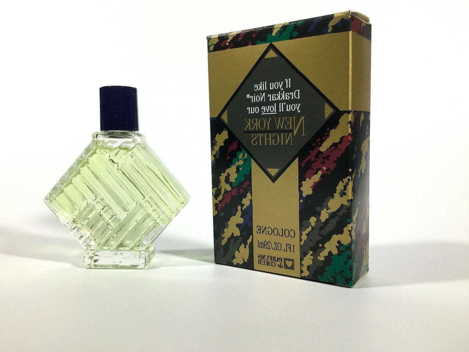 Vintage New York Nights Cologne New In Box 1oz Free Shipping