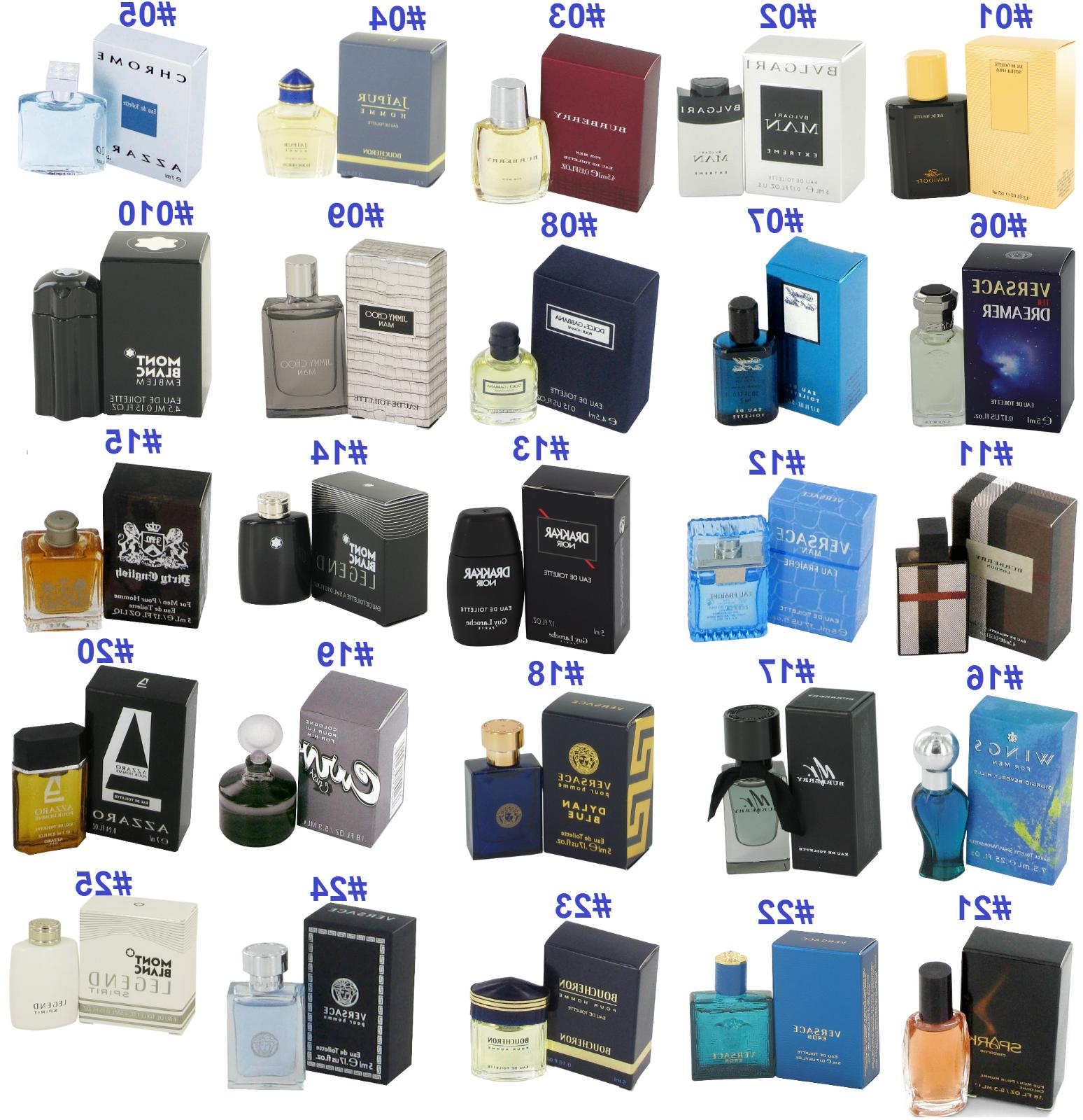 Authentic Designer Brand Cologne Men Perfume Travel Mini Col