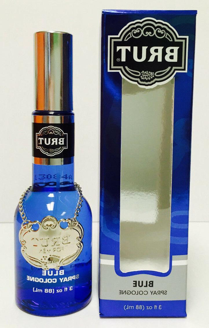 BRUT BLUE For Men Cologne SPRAY 3.0 OZ 88 ML NEW IN BOX @ HU