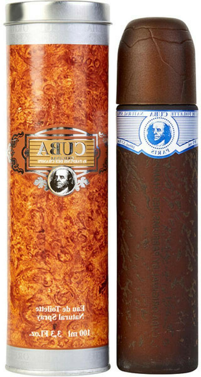 Cuba Blue by Cuba for Men - 3.4 oz EDT Spray